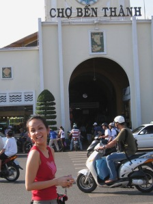 In Front of Ben Thanh Market