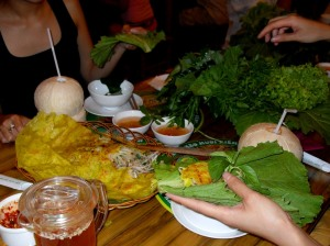 Dinner Banh Xeo