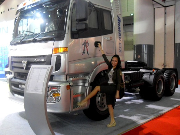 Me and the GIANT TRUCK! it have Optimus Prime Picture on the door Hahaha...