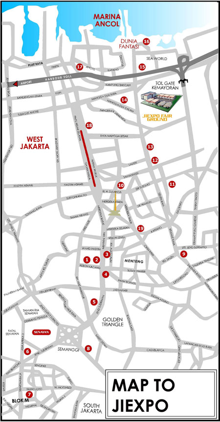 Map to Pekan Raja Jakarta