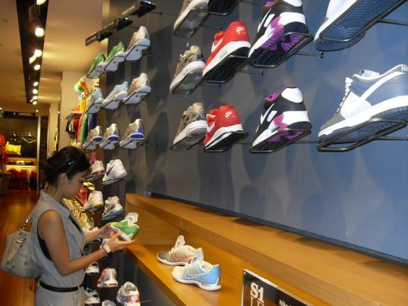 At Nike's Store - Wisma Atria Singapore