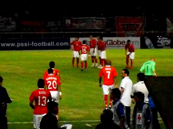 Indonesian Team enter the field