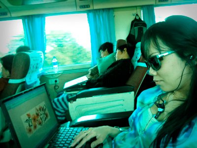 on the way to Semarang by Train