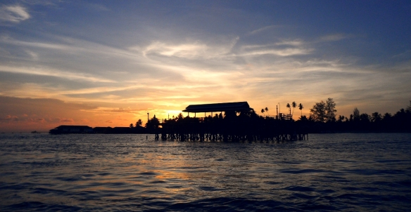 Sunset on Derawan Island by Lolo sianipar