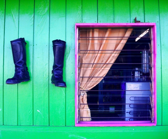 Boots and Window by Lolo Sianipar