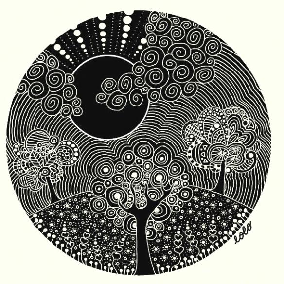 Doodle: Garden Under The Moonlight