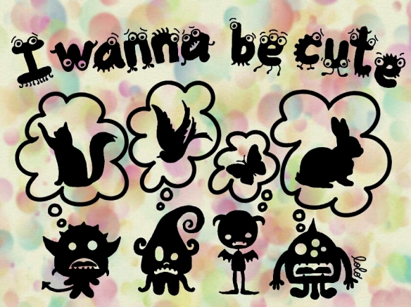 Lolo's Doodle: Little Monsters I wanna be cute