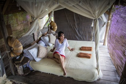 Pulau Macan: inside our hut